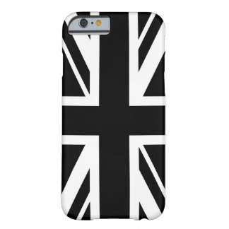 ~ d'Union Jack noir et blanc Coque Barely There iPhone 6