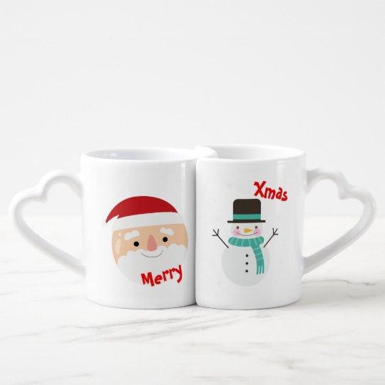 "Duo tasses ""Joyeux Noël"" ""Merry Christmas"""