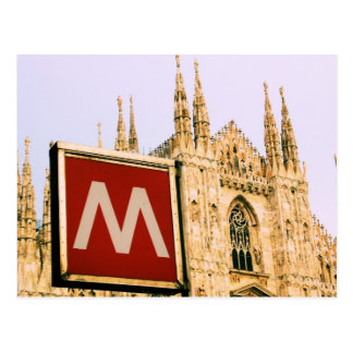 Duomo de l'IL par l'intermédiaire de la métro - Carte Postale