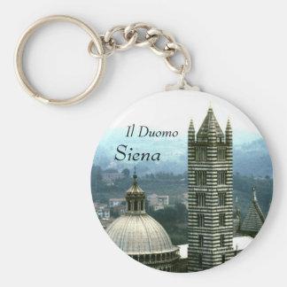 Duomo de l'IL, porte - clé de Sienne | Porte-clé Rond