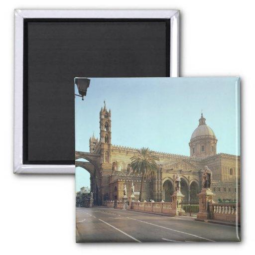 Duomo d'EL, fondé par Walter, archevêque de Palerm Aimant Pour Réfrigérateur