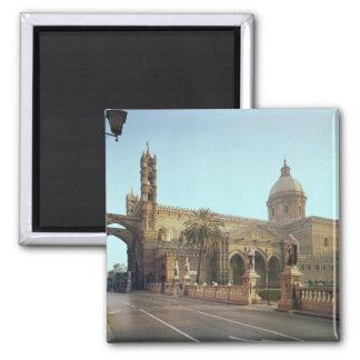 Duomo d'EL, fondé par Walter, archevêque de Palerm Magnet Carré