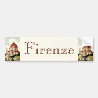 Duomo vintage d'église de Florence Firenze Italie Autocollant Pour Voiture