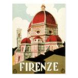Duomo vintage d'église de Florence Firenze Italie  Carte Postale