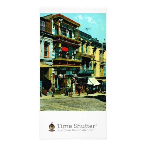 Dupont et rues d'argile cartes de vœux avec photo