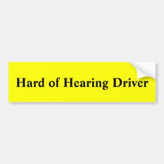 Dur du conducteur d'audition autocollant de voiture