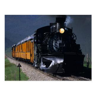 Durango et train de vapeur de Silverton Carte Postale