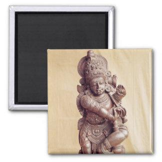 Durga, d'Inde du sud Magnet Carré