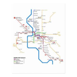 Düsseldorf métro système postcard carte postale