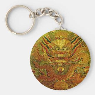 Dynastie de Ming chinoise de broderie de dragon d' Porte-clé