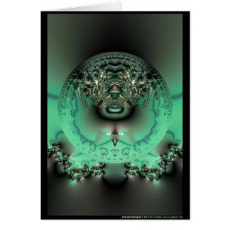 Dystrophia vert carte de vœux