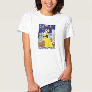 E.A. Mele rare, poster vintage 1902 de Naples, T-shirts
