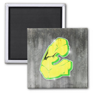 E - Aimant de lettre de graffiti
