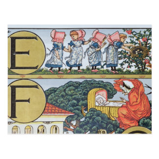 E-F, d'un alphabet basé sur des comptines Carte Postale