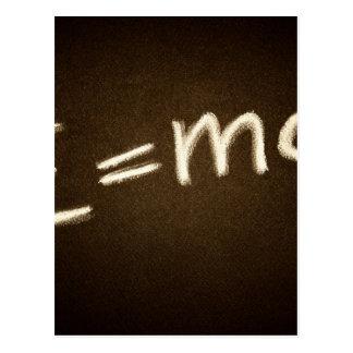 e=mc2… carte postale