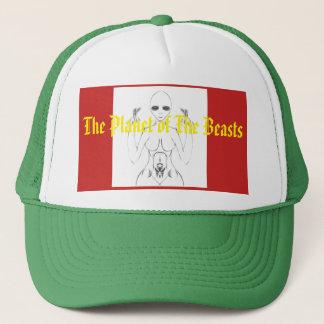 E.T. Sketch féminin blanc sur le casquette de