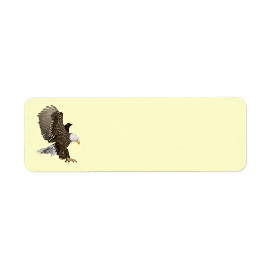Eagle Animated Étiquette D'adresse Retour