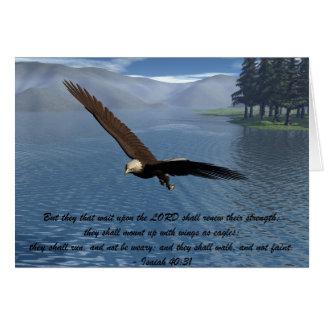 Eagle avec l'écriture sainte carte de vœux