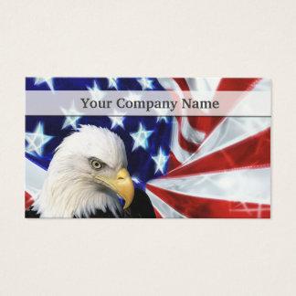 Eagle chauve américain et cartes de visite de