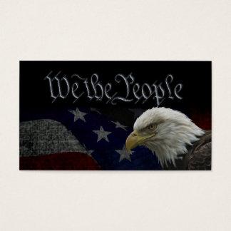 Eagle chauve américain sur le drapeau cartes de visite