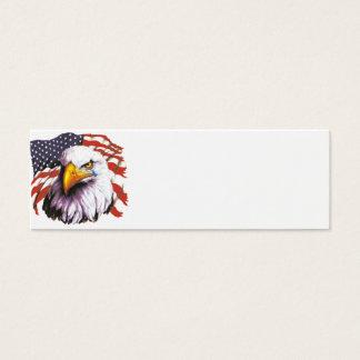 Eagle chauve avec une larme - drapeau des mini carte de visite