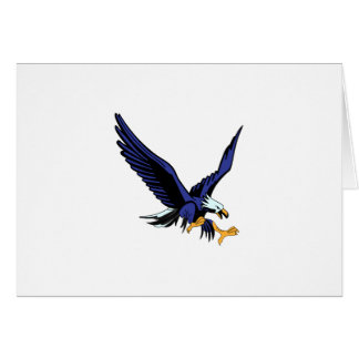 Eagle chauve carte de vœux