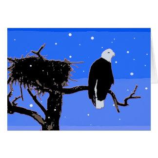 Eagle chauve en hiver cartes