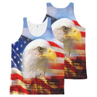 Eagle chauve et le drapeau américain bannières