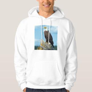 Eagle chauve été perché sur le rondin, Canada Veste À Capuche