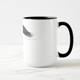 Eagle chauve montant - tasse de café