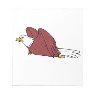Eagle chauve pilotant la bande dessinée blocs notes