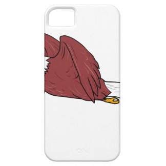 Eagle chauve pilotant la bande dessinée iPhone 5 case