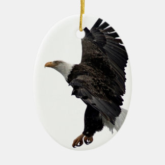 Eagle chauve volant ornement ovale en céramique