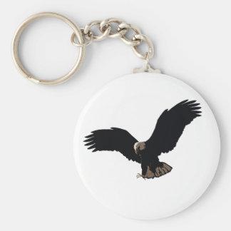 Eagle chauve volant porte-clés