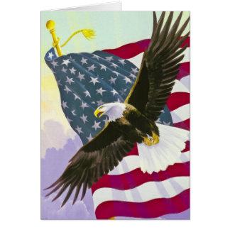 Eagle de montée carte de vœux