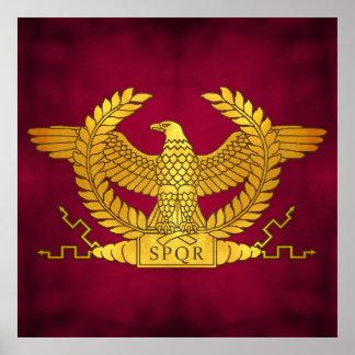 Eagle d'or romain sur le pourpre posters