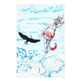 Eagle et vache rose à saut papier à lettre personnalisé