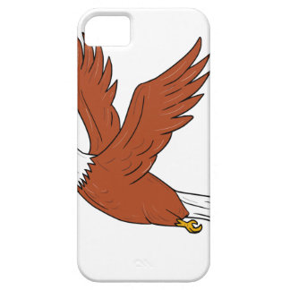 Eagle fâché pilotant la bande dessinée coque barely there iPhone 5