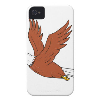 Eagle fâché pilotant la bande dessinée coque iPhone 4 Case-Mate
