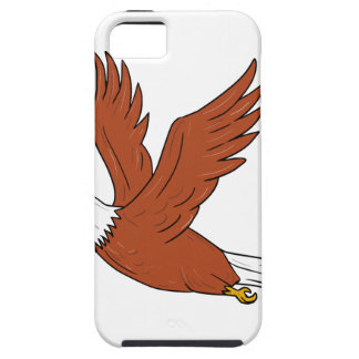 Eagle fâché pilotant la bande dessinée coque iPhone 5 Case-Mate