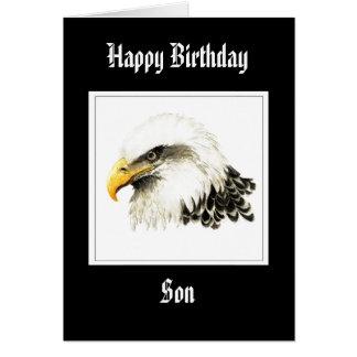 Eagle - fils d'anniversaire, militaires drôles cartes