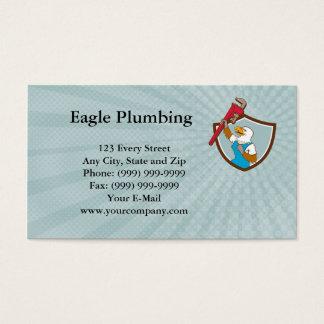 Eagle mettant d'aplomb le carte de visite