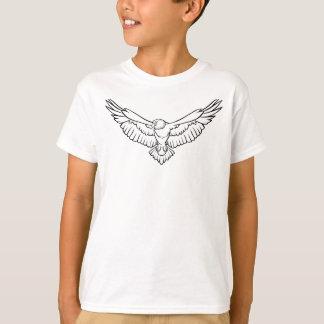 Eagle, oiseau avec les ailes répandues en vol t-shirt