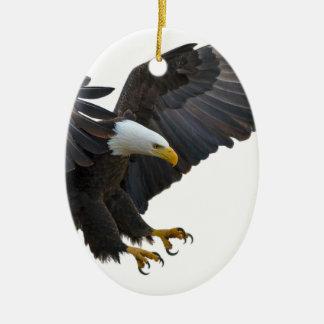 Eagle Ornement Ovale En Céramique