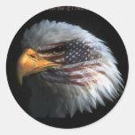 Eagle patriotique avec l'arrière - plan de drapeau autocollants