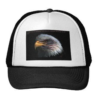 Eagle patriotique avec l'arrière - plan de drapeau casquette de camionneur