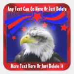 Eagle patriotique et autocollants d'étoiles