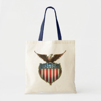 Eagle patriotique et chauve vintage avec le sacs