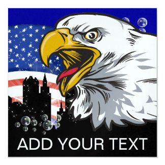 Eagle patriotique - SRF Carton D'invitation 13,33 Cm