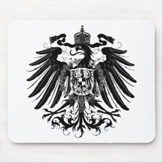 Eagle prussien noir tapis de souris